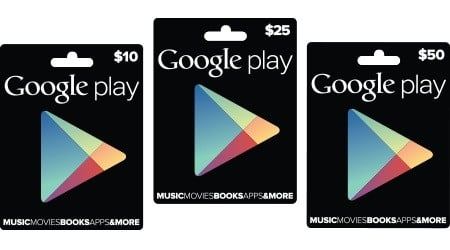 Biuy Google Play gift cards at jerrycards.com