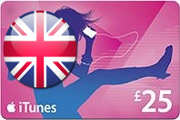 25 GBP UK iTunes Gift Card